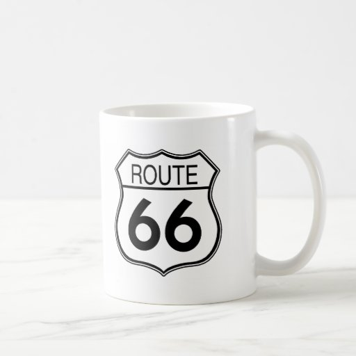 Route 66 Sign Coffee Mugs