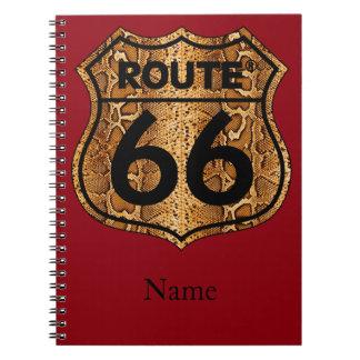 Route 66 Snake Skin Gift Notebooks