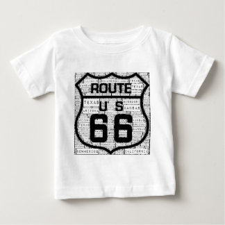 Route 66 States Baby T-Shirt