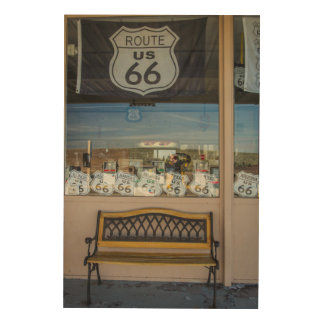 Route 66 Storefront Wood Wall Art