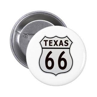Route 66 Texas 6 Cm Round Badge