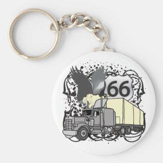 Route 66 Trucker Key Ring