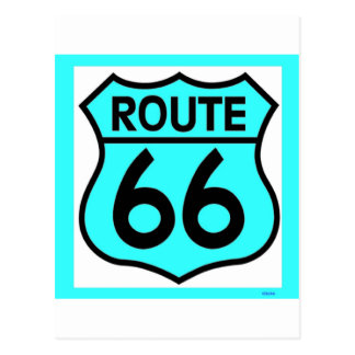 route 66 turquoise postcard