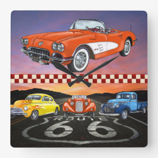 Route 66 Wall Clock - SRF