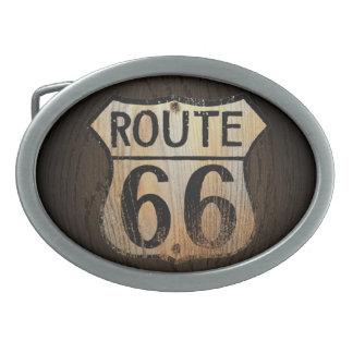 Route 66 Wood BG - Belt Buckle