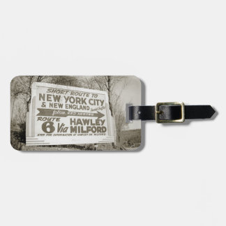 Route 6 Billboard Hawley Pennsylvania Milford PA Luggage Tag