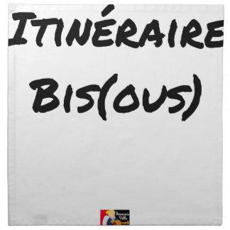 ROUTE (A) (OUS) - Word games - François City Napkin