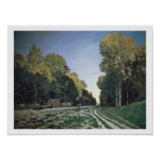 Route de Chailly, Fontainebleau, 1864 (oil on canv Poster