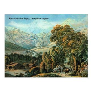 Route to the Eiger, Jungfrau region Postcard