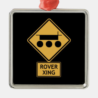 rover crossing metal ornament