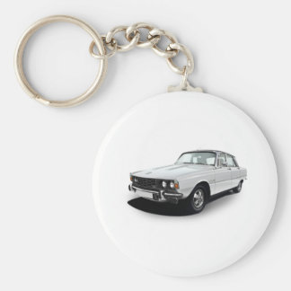 Rover P6 3500S Basic Round Button Key Ring