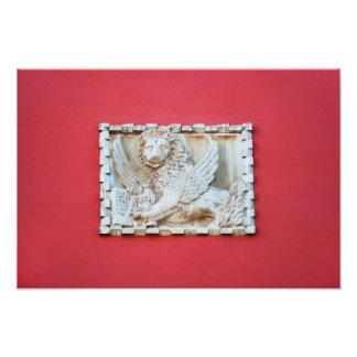 Rovinj Croatia Venetian winged lion plaque archite Photo Print