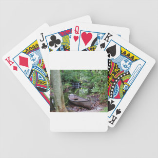 Row boat bicycle playing cards