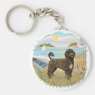 Row Boat - Brown Portie 2 Key Ring