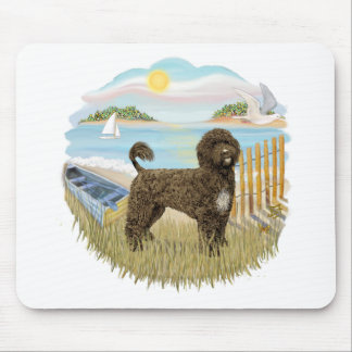Row Boat - Brown Portie 2 Mouse Pad