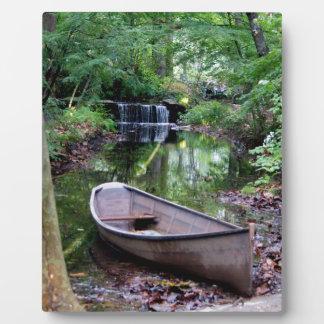 Row boat plaque