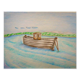 Row boat poster
