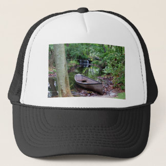 Row boat trucker hat