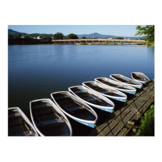 Row Boats at Arashiyama in Kyoto Postcard