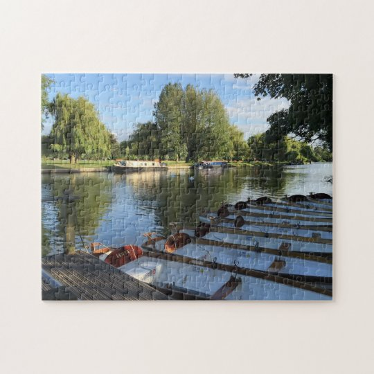 Row Boats on the River, Stratford Upon Avon UK Jigsaw Puzzle