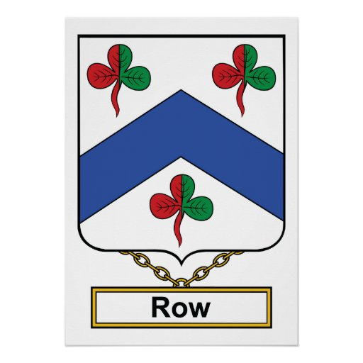 Row Family Crest Poster