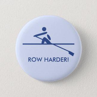 Row harder pictogram caption blue 6 cm round badge