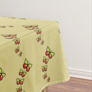 Row of Cute Butterflies Tablecloth