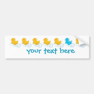 row of cute ducks car bumper sticker