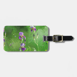 Row Of Irises Bag Tag