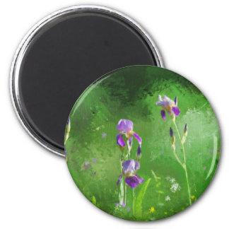 Row Of Irises Magnet