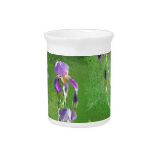 Row Of Irises Pitcher
