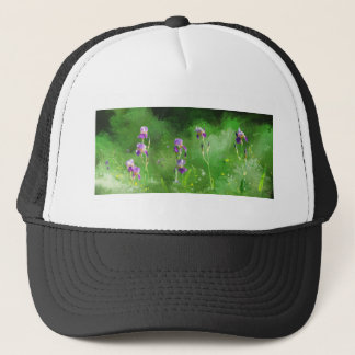 Row Of Irises Trucker Hat