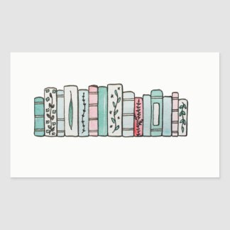 Row of Pastel Books Sticker