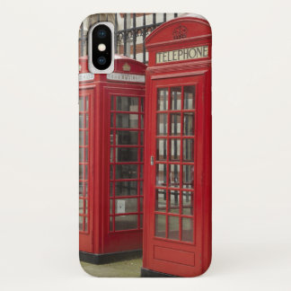 Row of phone boxes at the back of the Royal iPhone X Case