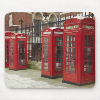 Row of phone boxes at the back of the Royal Mouse Pad