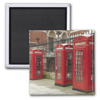 Row of phone boxes at the back of the Royal Square Magnet