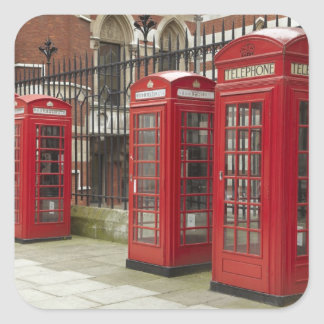 Row of phone boxes at the back of the Royal Square Sticker