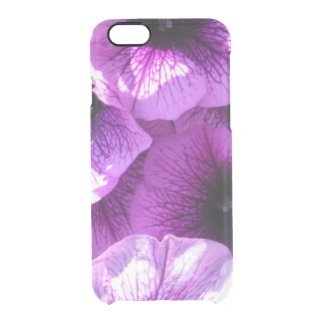 Row of Purple Wave Petunias Clear iPhone 6/6S Case