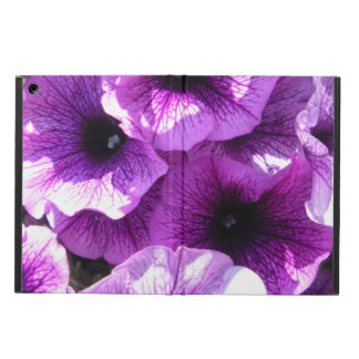 Row of Purple Wave Petunias iPad Air Case