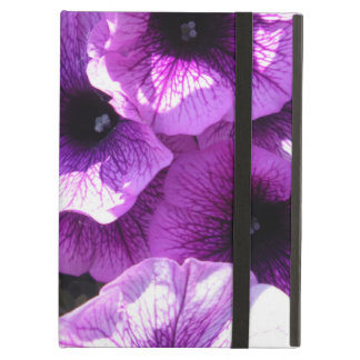 Row of Purple Wave Petunias iPad Air Cover