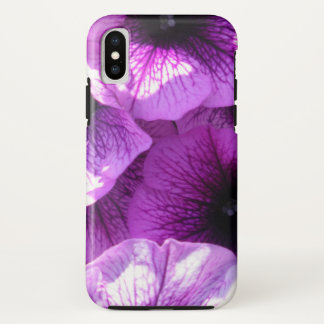 Row of Purple Wave Petunias iPhone X Case