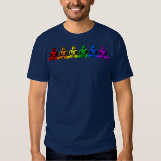 Row of Rainbow Buddhas Shirt
