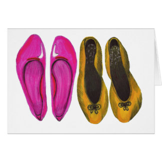 Row of Shoes Greeting Card