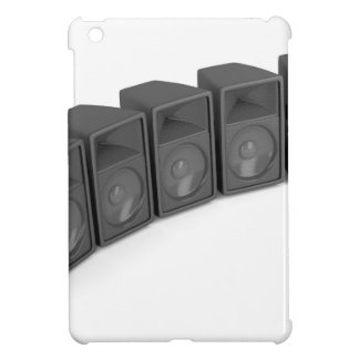 Row of speakers iPad mini case