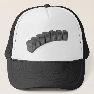 Row of speakers trucker hat