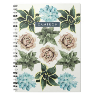 Row of Succulents Notebook