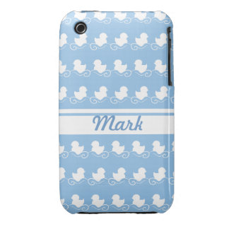 row of white ducks blue iPhone 3G/3GS Case-Mate Case-Mate iPhone 3 Case