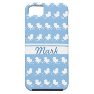 row of white ducks in blue  iPhone 5 Case-Mate iPhone 5 Cases