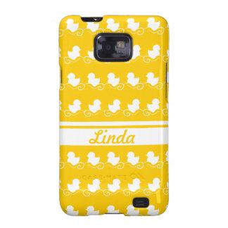 row of white ducks in yellow Samsung Galaxy Case Samsung Galaxy S2 Cases
