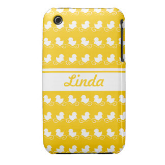 row of white ducks yellow iPhone 3G/3GS Mate iPhone 3 Case